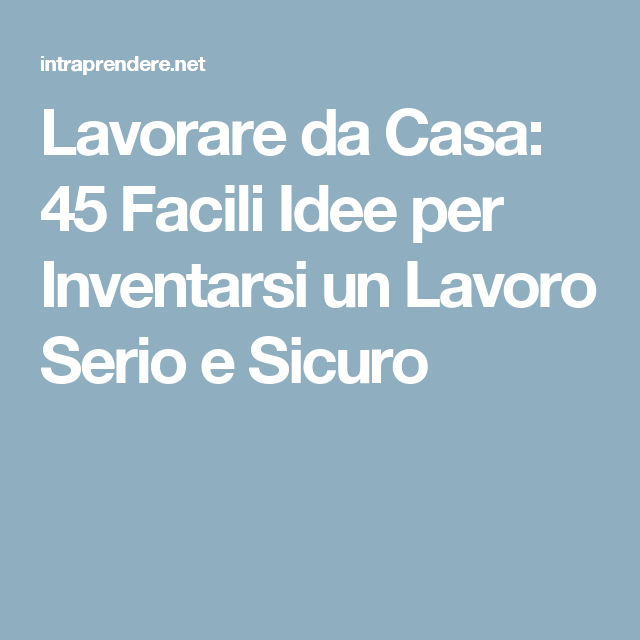 idee di business su come fare soldi