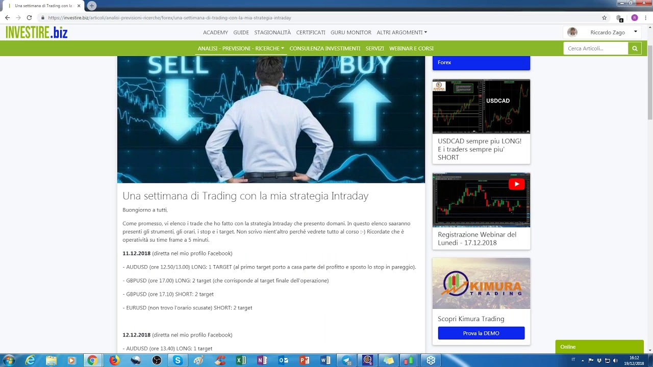 video corso di trading robot