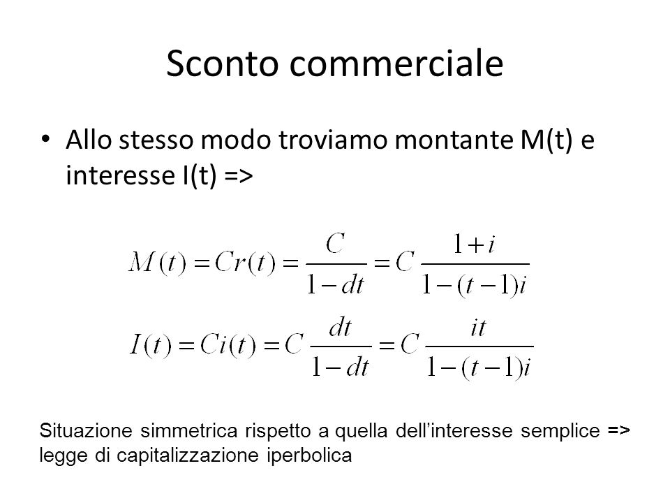 matematica commerciale